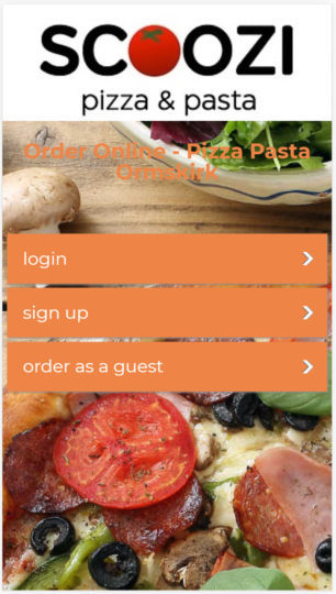Scoozi Pizza Takeaway App